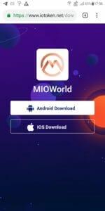 MIO最新アプリダウンロード画面
