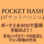 POCKT HASH運用